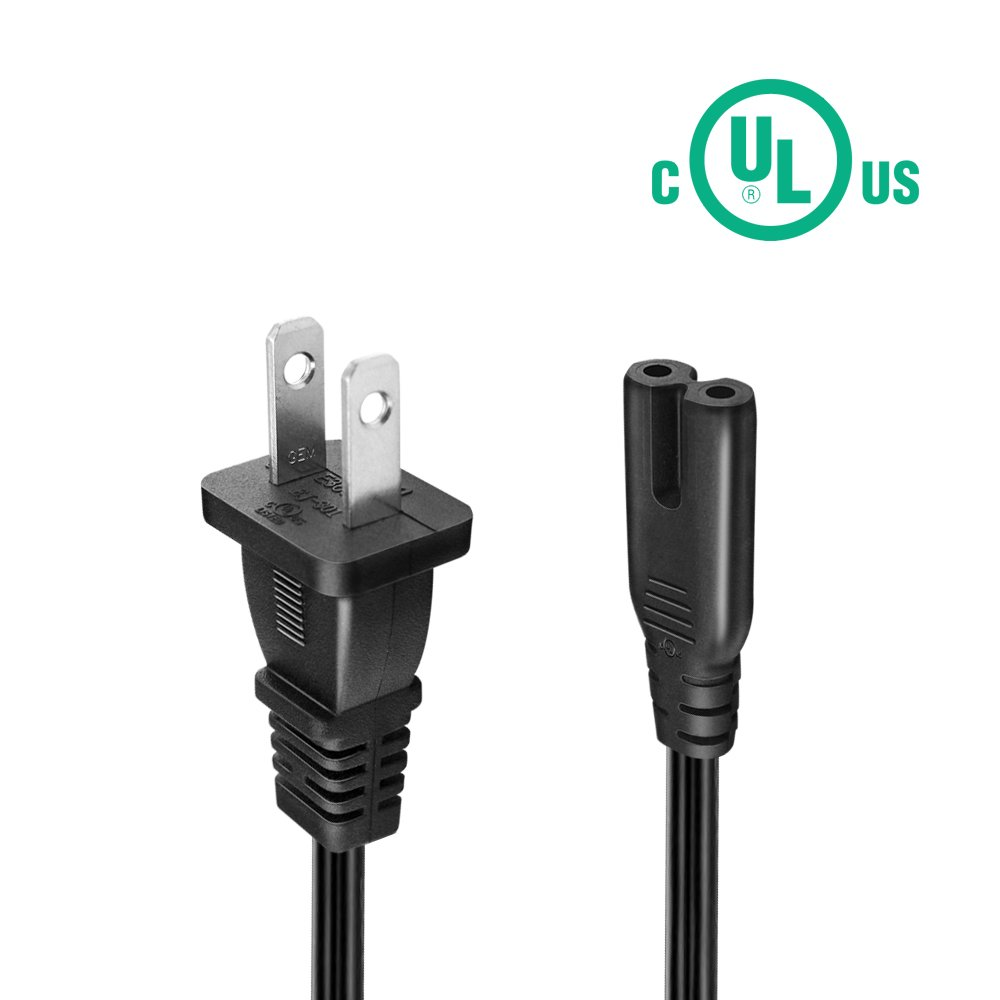 2 Prong Power Cord for HP Envy/OfficeJet BENSN UL Listed Epson ...