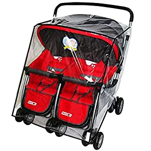 Amazon.com: Funda impermeable Twins Baby Stroller lluvia ...