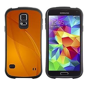 Suave TPU Caso Carcasa de Caucho Funda para Samsung Galaxy S5 SM-G900 / Beige Yellow Lines Abstract / STRONG