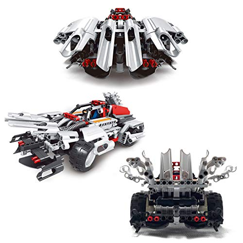 STEM Toys Remote Control Car for Boys 8-12 – 2-in-1 RC Car Kit Builds RC Car Racer/Off-Road Models Snap Together Blocks…