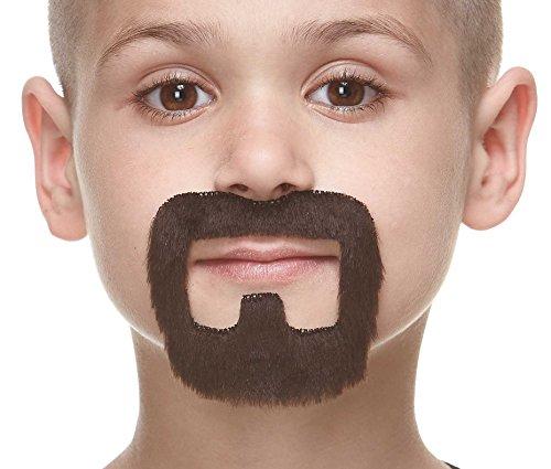 Kids Fake For Beards (Small inmate dark brown fake beard, self)