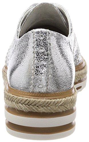 Crack Tamaris 23709 silver Women''s Silver Sneakers top Low A04qxAR
