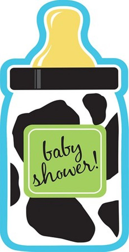 Amazon.com: 8-Count Bottle-Shaped Shower Invitations, Baby Boy Cow ...