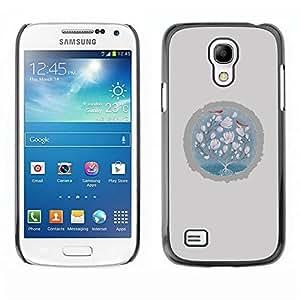 Be Good Phone Accessory // Dura Cáscara cubierta Protectora Caso Carcasa Funda de Protección para Samsung Galaxy S4 Mini i9190 MINI VERSION! // Baby Pink Grey Winter Birds