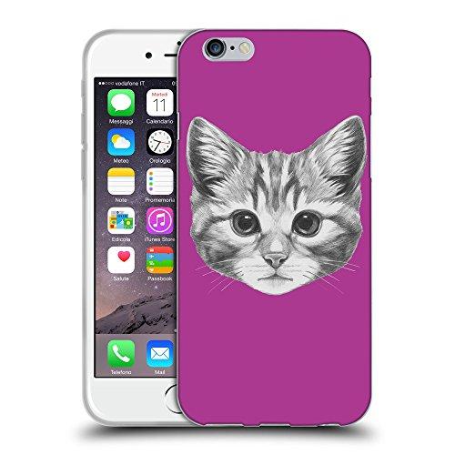 "GoGoMobile Coque de Protection TPU Silicone Case pour // Q05140621 Dessin chaton byzantin // Apple iPhone 6 4.7"""