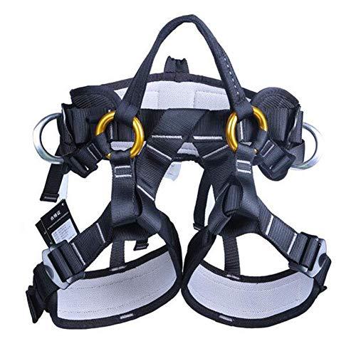 MUTANG Equipo de arnés de cinturón de Seguridad para montañismo al Aire Libre Ajustable de Medio Cuerpo/Cuerpo Completo al...
