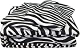 What Is an Eastern King Size Bed Shreen linen 3-Piece Duvet Cover Set - Eastern King Size, Zebra Print With Zipper and Corner Ties
