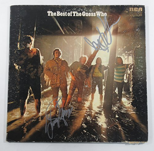 Garry Peterson and Jim Kale Signed Record Album The Best of The Guess Who 2 AUTOS