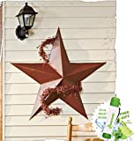Gift Included- 36″ Rustic Dimensional Barn Star Garden Accent Display Dome Decor + Free Bonus 23 oz Water Bottle byHomecricket Review