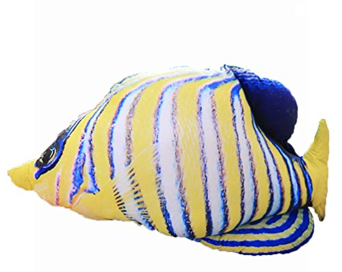 Auspicious beginning Sealife Creatures Tropical Fish Plush Toy Pillow Gift for Kids, tropical fish, 7.9'' - Auspicious Fish