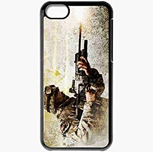Personalized iPhone 5C Cell phone Case/Cover Skin Call Of Duty 4 Modern Warfare Black