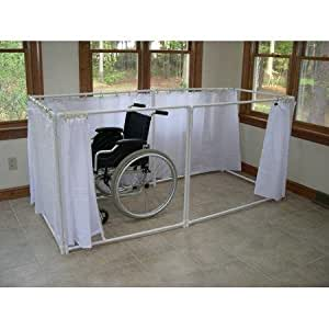 wheelchair accessible portable shower stall recliner model health personal care. Black Bedroom Furniture Sets. Home Design Ideas