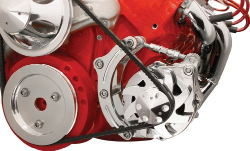 Billet Specialties FM0205PC Short Water Pump Driver Side Low Mount Alternator Bracket for Big Block Chevy
