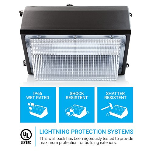 HyperSelect LED 100W Wall Pack Light, Hyperikon, HPS/HID Replacement, 5000K (Crystal White Glow), 8000 lumen, UL Listed by Hyperikon (Image #1)