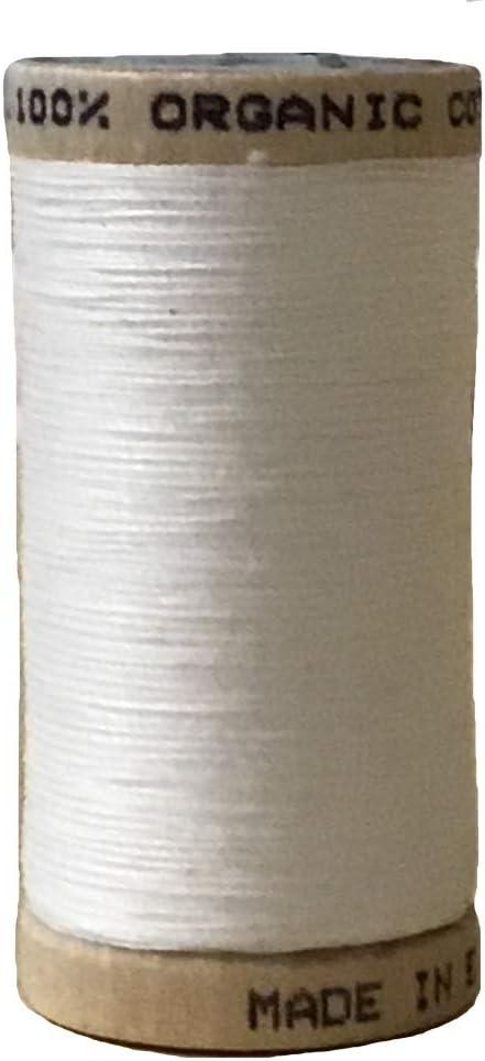 Multiusos orgánico algodón hilo de coser – blanco: Amazon.es: Hogar