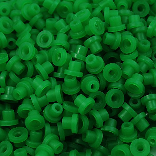ITATOO® 200pcs Soft Tattoo Grommets Rubber Tattoo Nipples for Tattoo Needles N201087 (Green) ()