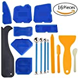 Anndason 16 PCS Caulking Tool Kit Caulk Caps Sealant Finishing Tool Silicone Caulk Removal Tool For Bathroom Kitchen And The Rest Of The Household