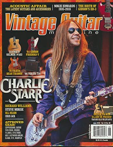 Vintage Guitar : A '64 Gibson Firebird V in Cherry Red; Charlie Starr and Blackberry Smoke; Django Reinhardt Selmer #503; The Travis Bean TB100s Standard; The '66 Vox UL 730 Amp;