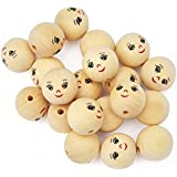 Playbox 22 mm Wooden Balls with Face (20-Piece)