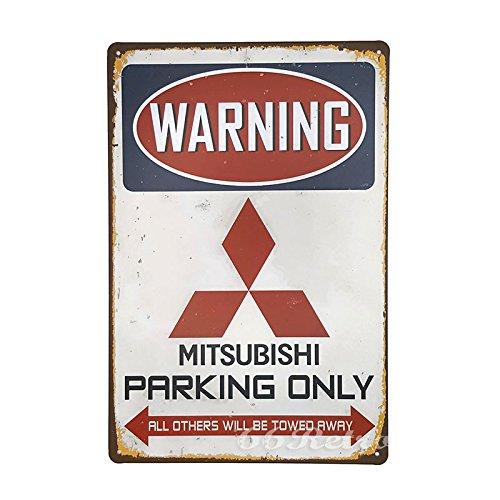 66retro-mitsubishi-parking-only-vintage-retro-metal-tin-sign-wall-decorative-sign-20cm-x-30cm
