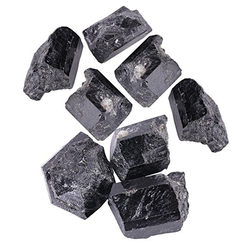 (Natural Quartz Crystal Premium Black Tourmaline Stone Tourmaline Raw Rough Rocks and Stones, Crystals for Cabbing, Tumbling, Polishing, Wire Wrapping, Wicca And Reiki Healing)