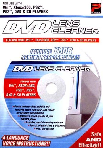 Wii Lens Clean - PlayTech Laser Lens Cleaning System for DVD, CD, Xbox 360, PS2 and PS3