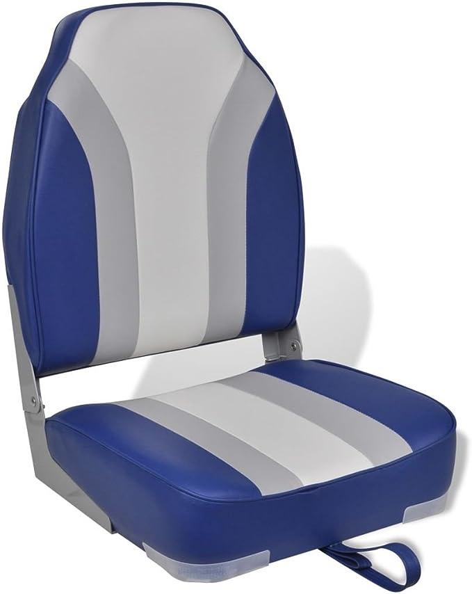 Klappstuhl Coach blau Bootssitz klappbar Steuerstuhl Bootsstuhl Anglersitz Navy