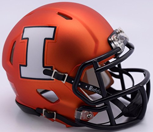 Riddell NCAA Illinois Illini Helmet Mini SpeedHelmet Replica Mini Speed Style, Team Colors, One Size