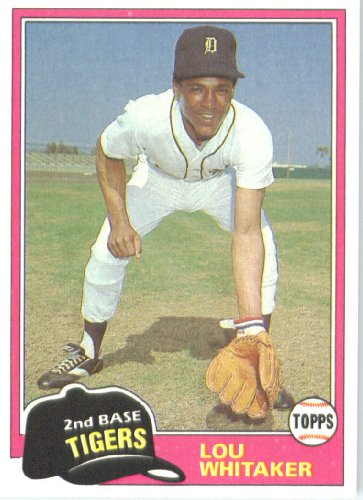 Lou Whitaker Detroit Tigers (Baseball Card) 1981 Topps #234