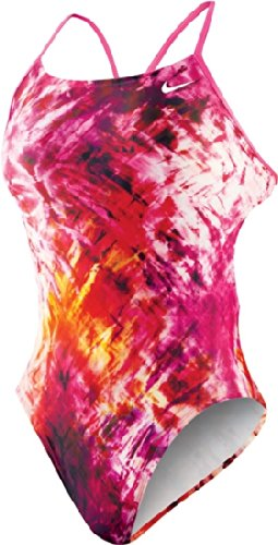 Nike Cut Out Tank - NIKE SWIM Fractured Tie Dye Female Cut-Out Tank (24, 28, 34 Only),Pink Flash (691),34