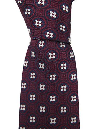 canali-mens-burgundy-geometric-silk-neck-tie