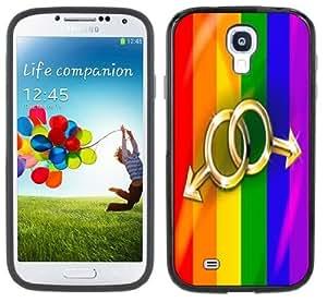 Gay Pride Dual Male Handmade Samsung Galaxy S4 Black Bumper Hard Plastic Case