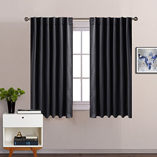 PONY DANCE Blackout Window Curtains - Insulating Against Dra