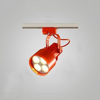 KMYX Focos de techo de LED industriales Retro Spotlight Tienda de ropa Iluminación de carril Focos