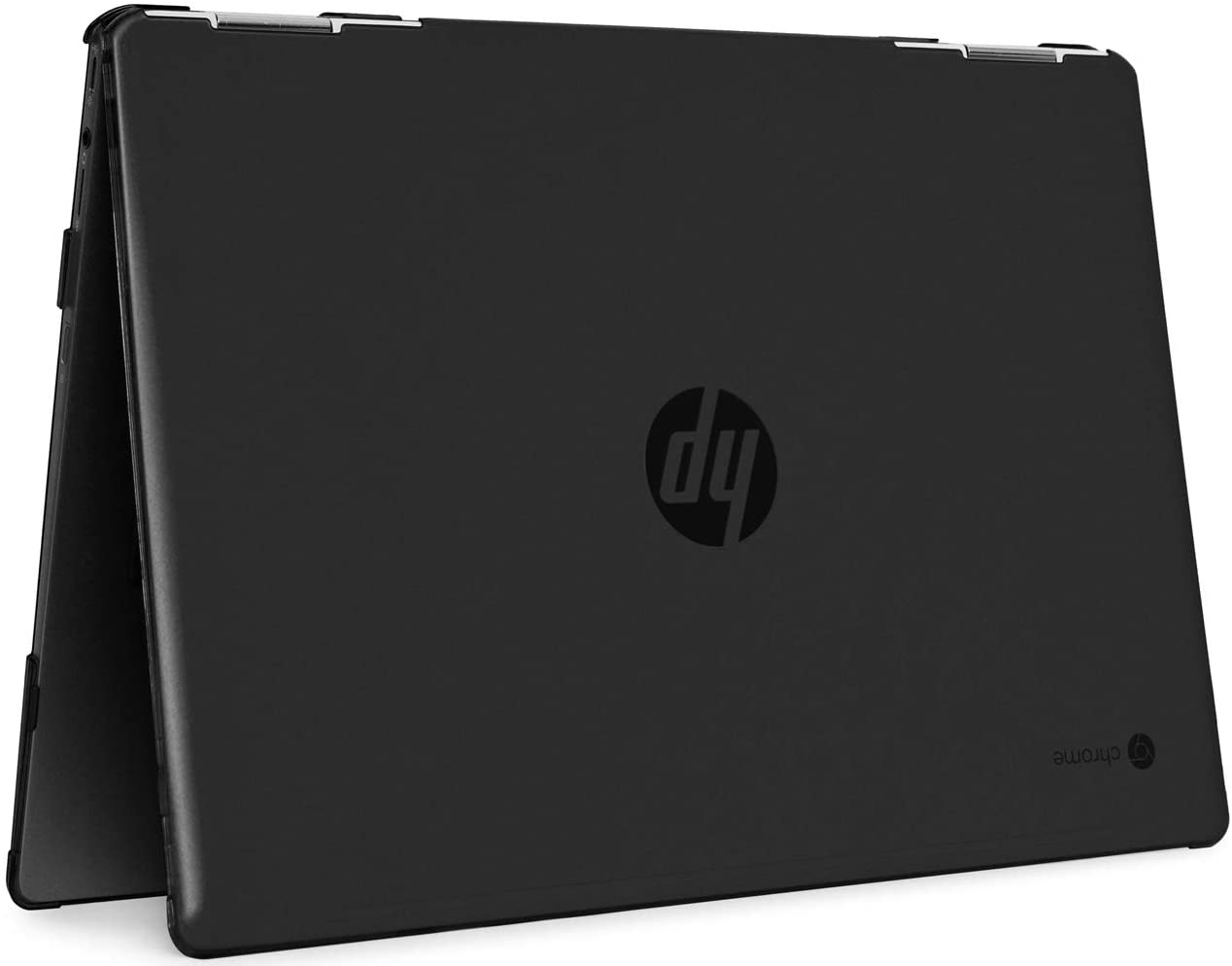 """mCover Hard Shell Case for 14"""" HP Chromebook X360 14-DA0000 Series laptops (NOT Compatible with Other HP Chromebook & Windows laptops) (Black)"""