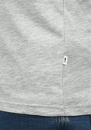 Melange Light Grey De Para Hombre Manga Con Bastien solid Redondo 8242 Longsleeve Camiseta Larga Básica Cuello 6x11Ag
