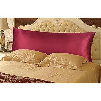 Amazon Com Durable Satin Silky Body Pillow Cover