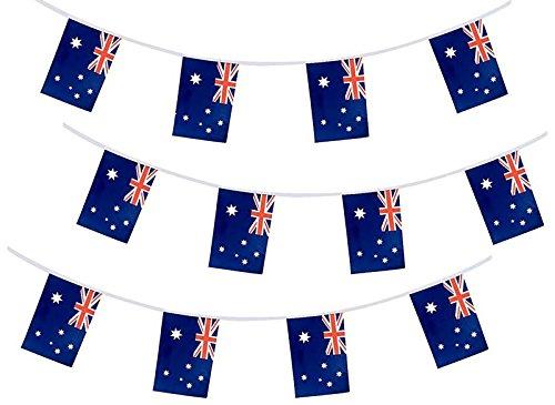 Australia Flag Australian String Flags Banner 33ft Aussie Decoration ()