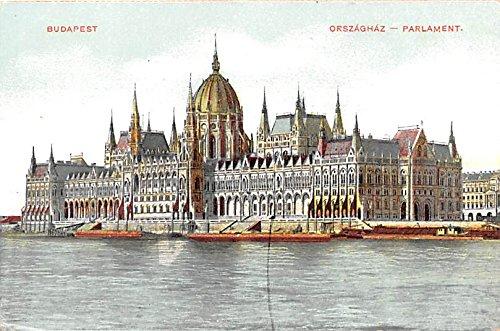 Orszaghaz Paralament Budapest Republic of Hungary Postcard