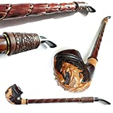 """Churchwarden 15'' Pipe""""DRAGON"""" Decorated with"""