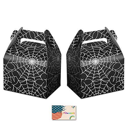 Focushow 50pcs Halloween Favor Candy Boxes Spider Web Treat Bags for Halloween Party Decorations Kids Spider Birthday Party Supplies -