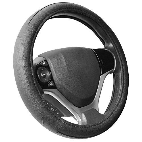 SEG Direct Black Microfiber Leather Steering Wheel Cover for Prius Civic 14