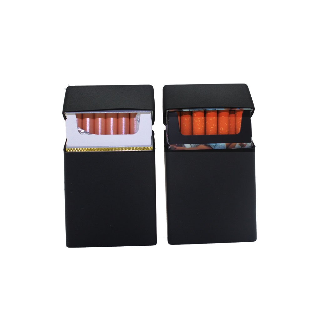 2 Pcs Boshiho Soft Silicone Cigarette Case Holder for Men -Standard 100mm 20 Pcs Cigarette Box Protector Lightweight and Waterproof(Black)