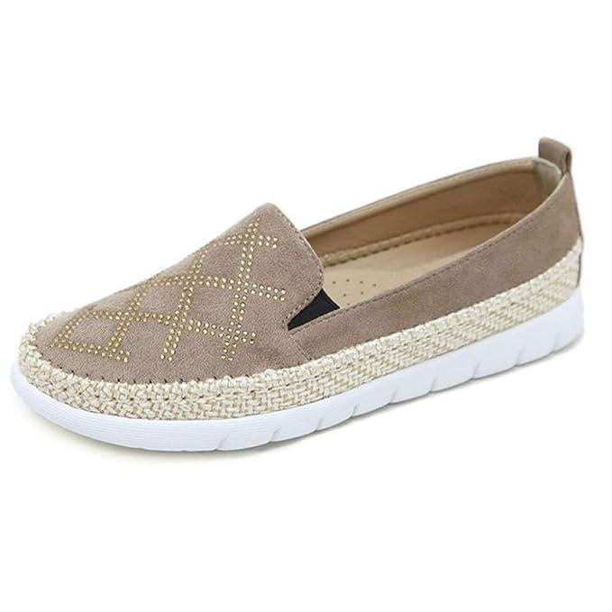 Zapatos Casuales Rhinestone Confort Mocasines Zapatos Para Mujer Zapatos Planos Zapatos Perezosos Mocasín Mocasines De Oficina: Amazon.es: Ropa y accesorios