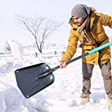 juanblue Portable Snow Shovel for Car, Aluminium Alloy Lightweight Detachable Snow Shovel, Long Handle Snow Removal Tool for Garden Camping and Other Outdoor Activities Polite