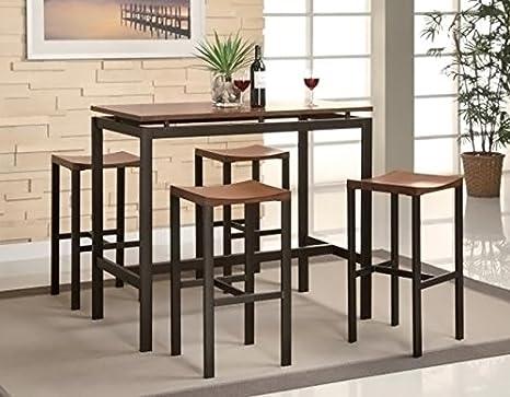 Amazon.com   Coaster Home Furnishings 150097 5 Piece Casual Dining Room  Set, Black   Table U0026 Chair Sets