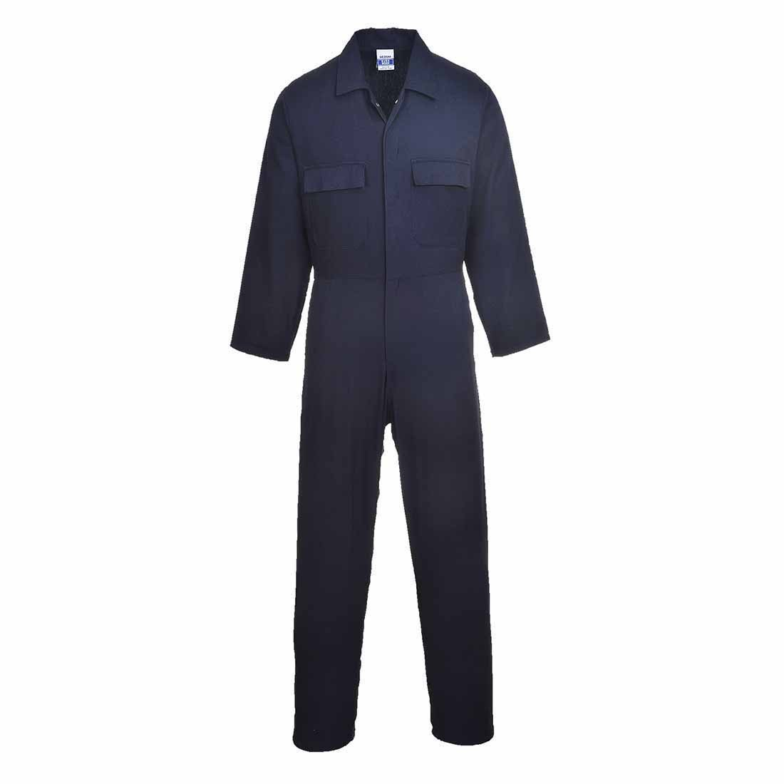 Size: 3X-Large Regular Portwest S998BKRXXXL Euro Work Cotton Coverall Black