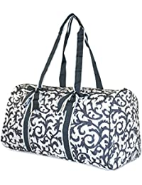 NGIL Damask Quilted Duffle Bag