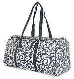 NGIL Damask Quilted Duffle Bag (Grey)