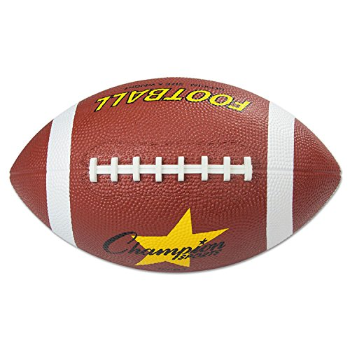 Champion Sports RFB1 Rubber Sports Ball Football Official NFL No. 9 Brown